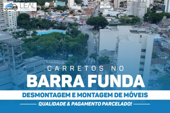 Transporte de mudança na Barra Funda