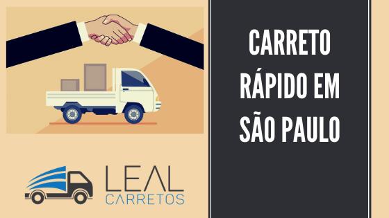 Carreto em São Paulo rápido com a Leal Carretos