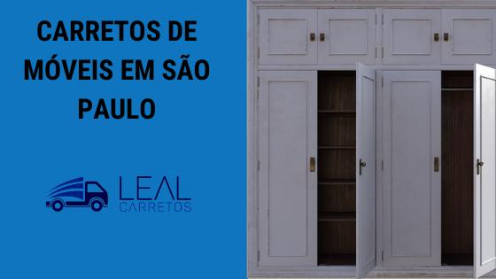 Carreto de móveis em São Paulo